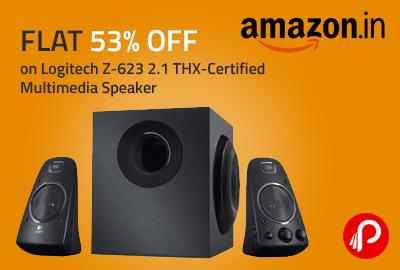 Flat 53% OFF on Logitech Z-623 2.1 THX-Certified Multimedia Speaker - Amazon