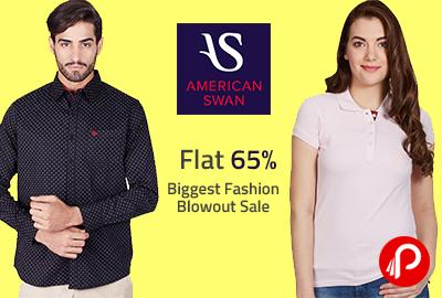 Biggest Fashion Blowout Sale| Flat 65 % - American Swan