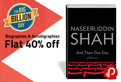 Get Flat 40% off on famous Biographies & Autobiograhies - Flipkart