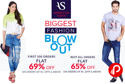 Get Flat 69% Off for first 100 orders - American Swan