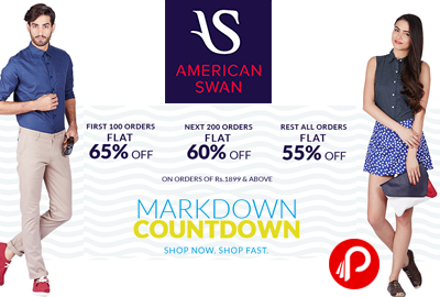 Get UPTO 65% off on Clothes - American Swan