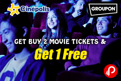 Get Free 1 Ticket on Buy Two Tickets from Cinpolis Jaipur -Groupon