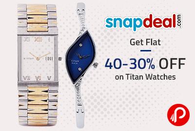 b959da38e51 Get Flat 40-30% OFF on Titan Watches – Snapdeal. Best Online Shopping deals  ...