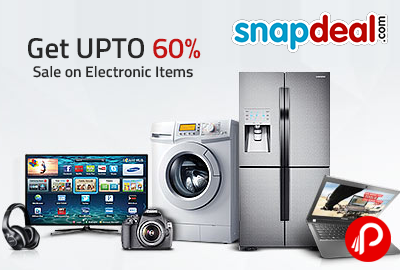 Get UPTO 60% Sale on Electronic Items - Snapdeal