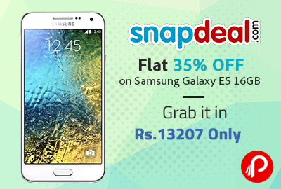 Flat 35% OFF on Samsung Galaxy E5 16GB | Grab it in Rs. 13207 Only - Snapdeal