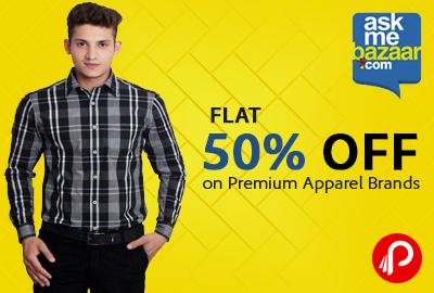 Flat 50% OFF on Premium Apparel Brands - Ask me Bazaar