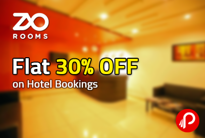 Flat 30% OFF on Hotel Bookings – Zo Rooms