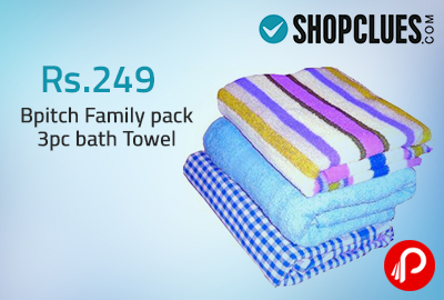 Get 79% Off Bpitch Family pack 3pc bath Towel - ShopClues