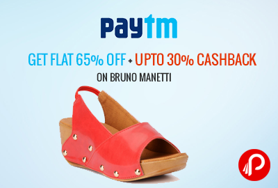 Get Flat 65% off + UPTO 30% Cashback on Bruno Manetti - Paytm