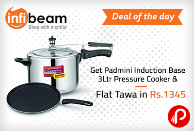Get Padmini Induction Base 3Ltr Pressure Cooker & Flat Tawa in Rs.1345 - Infibeam