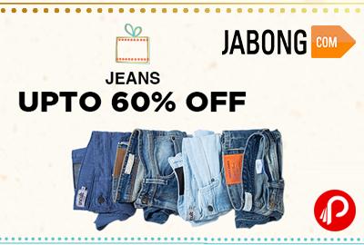 Get UPTO 60% off on Jeans - Jabong