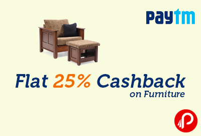 Flat 25 cashback best online shopping deals daily for Best online furniture shopping sites in india