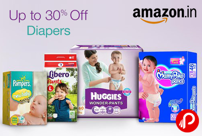 Get UPTO 30% off on Diapers Pampers, Libero, Huggies, MamyPoko - Amazon