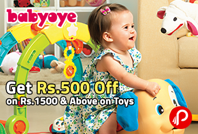 Get Rs.500 Off on Rs.1500 & Above on Toys - BabyOye