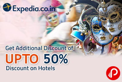 Get Additional Discount of UPTO 50% discount on Hotels - Expedia