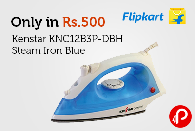Only in Rs.500 Kenstar KNC12B3P-DBH Steam Iron Blue - Flipkart