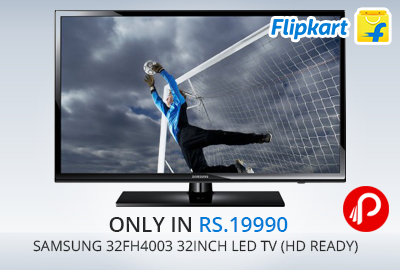 Only in Rs.19990 | Samsung 32FH4003 32inch LED TV (HD Ready) - Flipkart