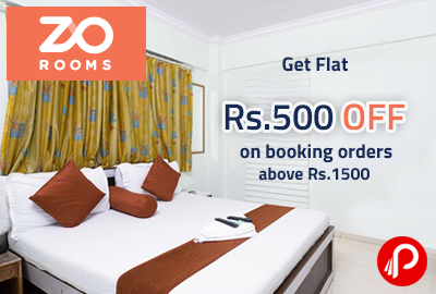 Get Flat Rs.500 off on booking orders above Rs.1500 - ZoRooms