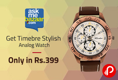 Get Timebre Stylish Analog Watch Only in Rs.399 - AskMeBazaar