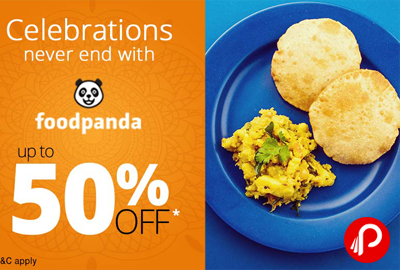 Get UPTO 50% off on Chinese Menu Food Order - FoodPanda