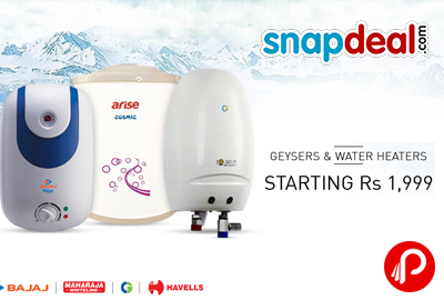 Price Starting from Rs.1999 on Geysers & Water Heaters - Snapdeal