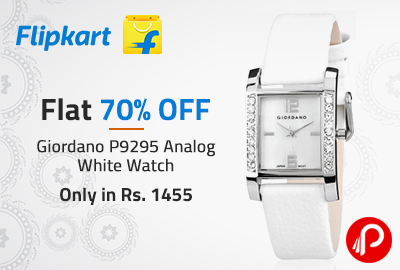 Giordano P9295 Analog White Watch Only in Rs. 1455 | Flat 70% OFF - Flipkart