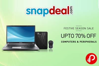 Get UPTO 70% off on Computers & Peripherals Devices - Snapdeal