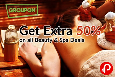 Get Extra 50% on all Beauty & Spa Deals - NearBuy (Groupon)