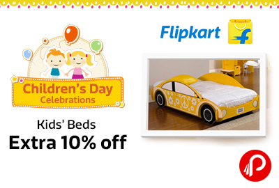Extra 10% off on Kids Beds | Children's Day Celebrations - Flipkart