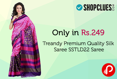 Only in Rs.249 Treandy Premium Quality Silk Saree SSTLD22 Saree - Shopclues