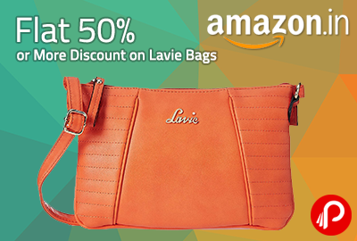 Flat 50% or More Discount on Lavie Bags – Amazon