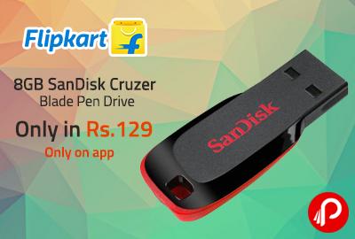 5d9c23f4c6b Only in Rs.129 8GB SanDisk Cruzer Blade Pen Drive - Flipkart