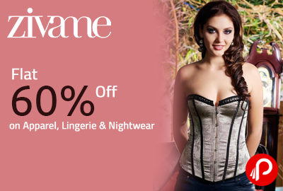 Flat 60% Off on Apparel, Lingerie & Nightwear - Zivame