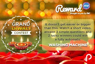 Ariel Grand Diwali Contest & Win Washing Machine - Rewardme