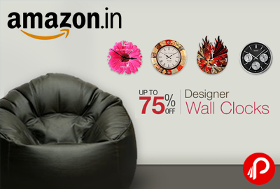 Get UPTO 75% off on Designer Wall Clocks - Amazon