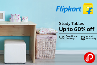 Get UPTO 60% off on Study Tables - Flipkart