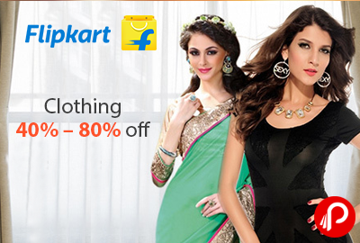 Get 40% - 80% off on Women's Clothing - Flipkart