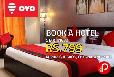Book a Hotel Starting at Rs.799 | Jaipur, Gurgaon, Chennai and Pune - Oyo Rooms
