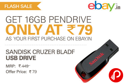 SanDisk 16 GB Pen-Drive @ Rs79 Only - eBay.in