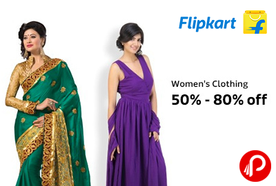 Get 50% – 80% off on Women s Clothing + 10% Extra on Citibank   Standard  Chartered – Flipkart 13fcc8c649