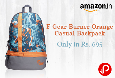 Get F Gear Burner Orange Casual Backpack Only in Rs. 695 - Amazon