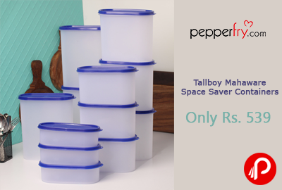 Get 73% off Only Rs. 539 Tallboy Mahaware Space Saver Containers - Pepperfry