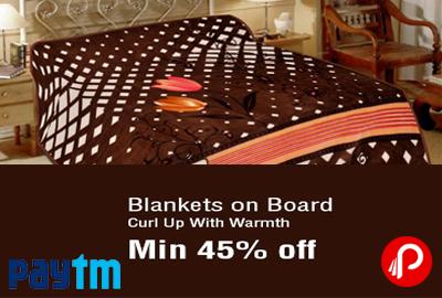 Get Min. 45% off on Blankets, Mink, Fleece, Quilts, Dohar - Paytm
