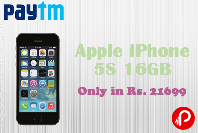 Get Apple iPhone 5S 16GB (Space Grey) Only in Rs. 21699 - Paytm