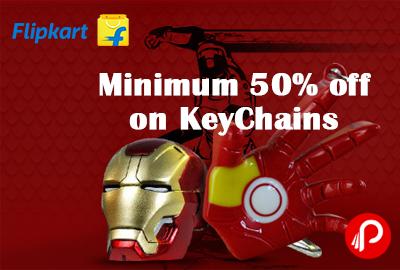 Get Minimum 50% off on KeyChains - Flipkart