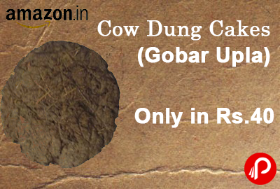 Get Cow Dung Cakes (Gobar Upla) only in Rs.40 - Amazon