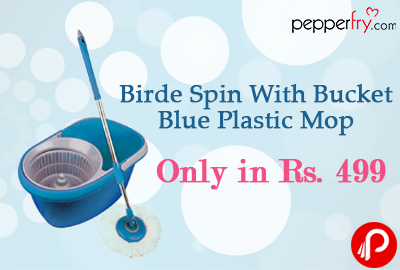 Birde Spin With Bucket Blue Plastic Mop | Only in Rs. 499 - Pepperfry