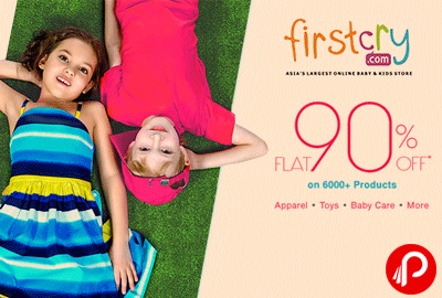 Get Flat 90% off on 6000+ Products incl. Apparel, Toys, Baby Care - Firstcry