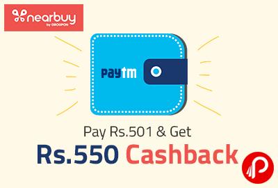 Get Rs. 550 Cashback
