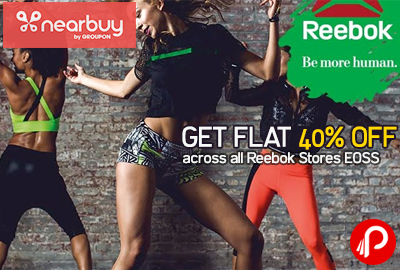 Get Flat 40% OFF across all Reebok Stores EOSS | Free Coupon - Nearbuy